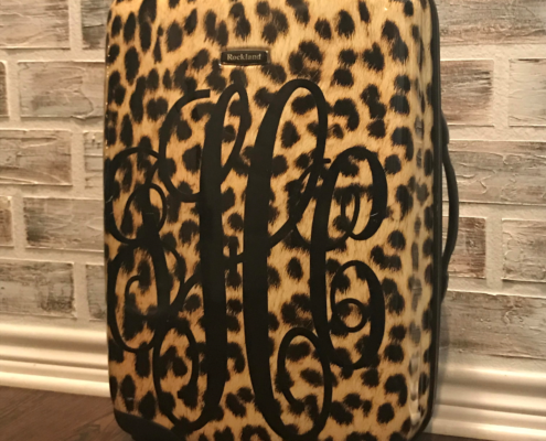 Leopard Monogrammed Luggage?? YES PLEASE!